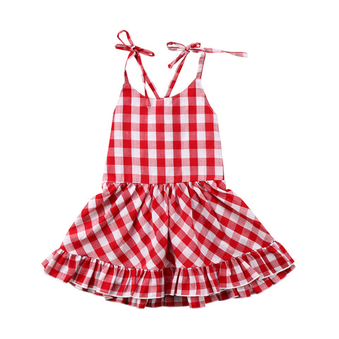 Red Plaid Checked Dress