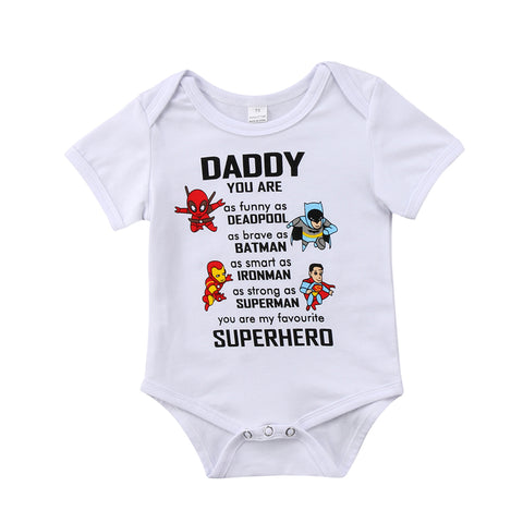 Daddy You are my Favorite Superhero Bodysuit 0-18M