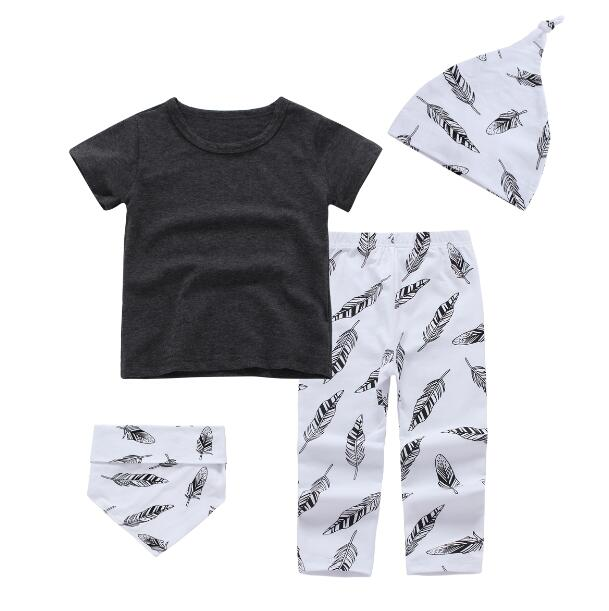 4-Pc Feather Baby Clothing Set