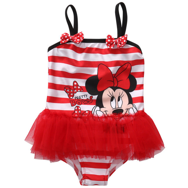 One Piece Minnie Mouse Swimwear ( 2 Colors)
