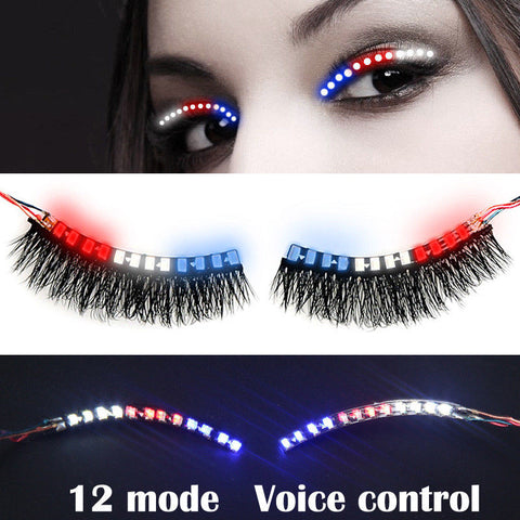 Multi-Color LED Luminous False Eyelash