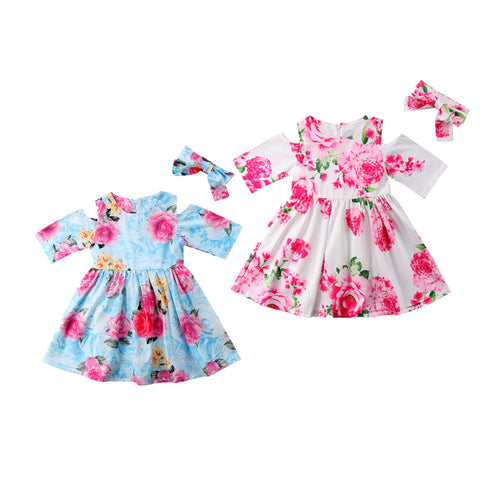Victoria  Floral Sundress for Little Girls (1-5Y)