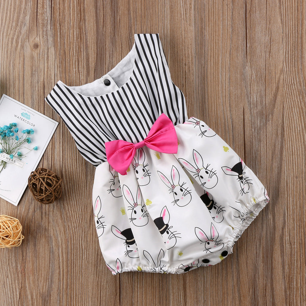 Bunny Bow knot Romper