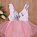 Unicorn Tulle Tutu Bodysuit for Little Girls (0-18M)