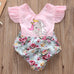 Baby Girls Floral Unicorn Romper