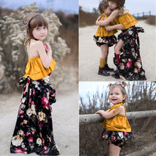 Sisters 2-Pc Spaghetti Strap Crop Tops + Floral Skirt n Bottom Sets (FREE SHIPPING WORLDWIDE)