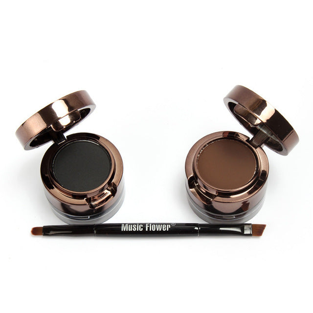 Eyebrow & Eyeliner Cream 2 In 1 Eye Eyeliner Eyebrow Powder Set