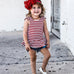 2-Pc Stripes Top & Denim Pants 1-4Y Free Shipping