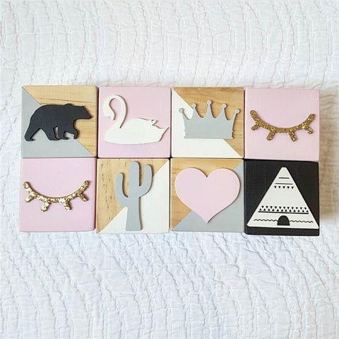 Decorative Wood Prop Blocks (6cm x 6cm x 6cm)