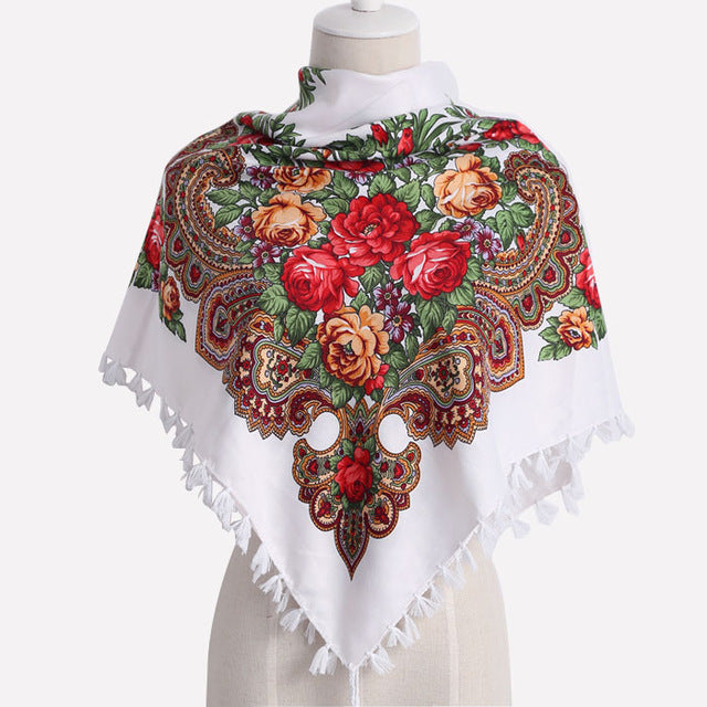 Fashion tassel flower design  Scarf