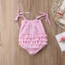 Spaghetti Strap Summer Romper for Baby GIrls (0-24M)