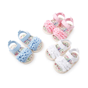 Summer Casual Floral Crib Shoes (0-18M)
