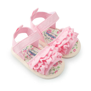 Floral Crib Baby Sandals ( 0-18M)