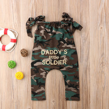 Daddy's Little Soldier Jumpsuit ( 3M-5Y) (Free Shipping)