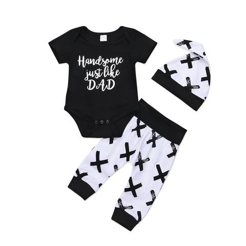 3-Pc Handsome Just like Dad Bodysuit