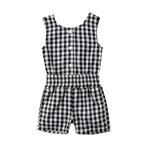 Judy Black Plaid Jumpsuit