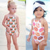 Girl Hamburger & Donut Prints Swimwear