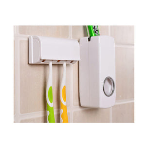 Toothbrush Holder And Automatic Toothpaste Dispenser (Free Shipping Worldwide)