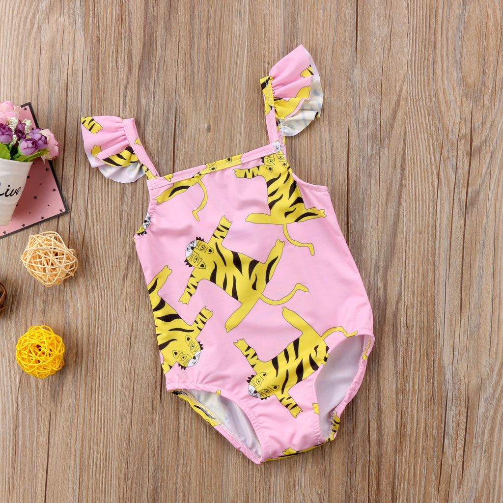 One Piece Tiger Print Swimwear (2-6Y)