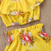 2-Pc Floral Strap Top & Shorts Set (1-5Y)