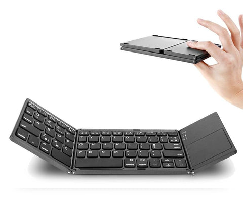 PORTABLE FOLDABLE KEYBOARD WITH BLUETOOTH & TOUCHPAD FOR IOS/ANDROID/WINDOWS