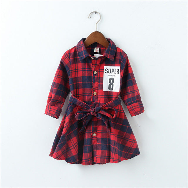 Girl Vintage Plaid Dress 2-7Y