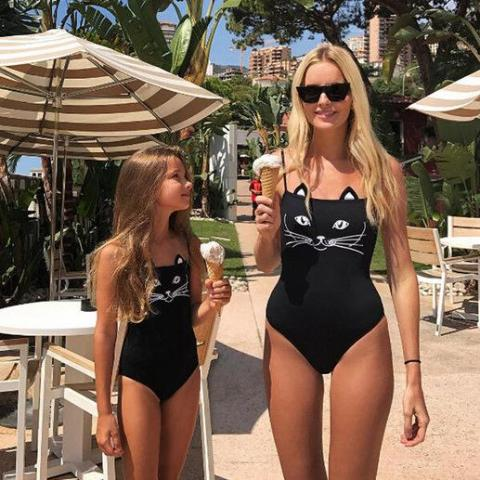 Mother and Daughter Matching Swimwear Set