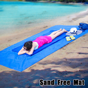 Beach Mat Absorbs Sand