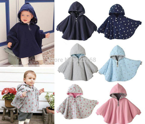 Reversible Baby Jacket with Batwing Sleeves
