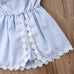 Lace Striped Sundress 1-6Y