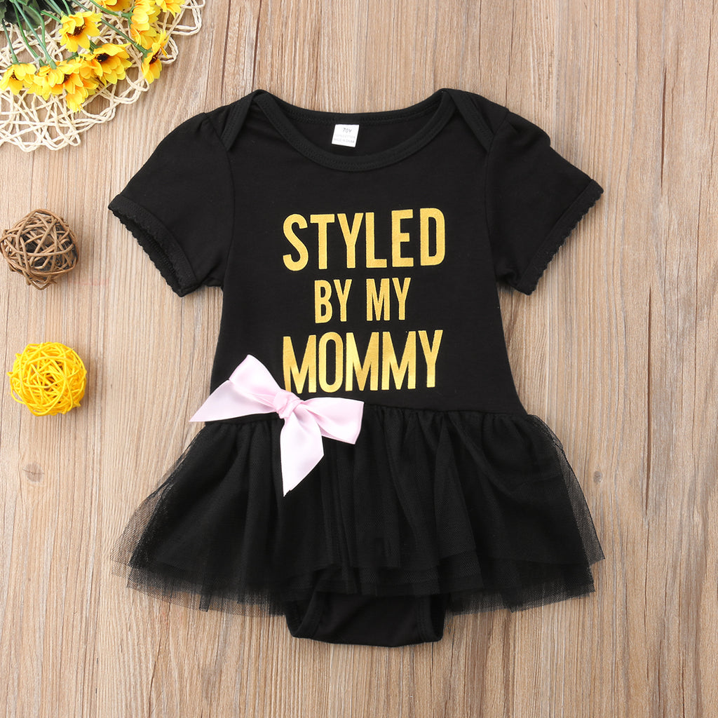 Styled By My Mommy Baby Bodysuit with Tulle Skirt (0-24M)