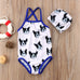 2-Pc  Boy & Girl Dog Print Swimwear Set