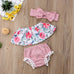 3-Pc Summer Floral Striped Set (0-24M)