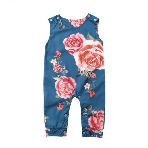 Sleeveless Floral Jumpsuit (0-24M)