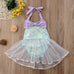 Baby Mermaid Lace Mesh Swim Wear
