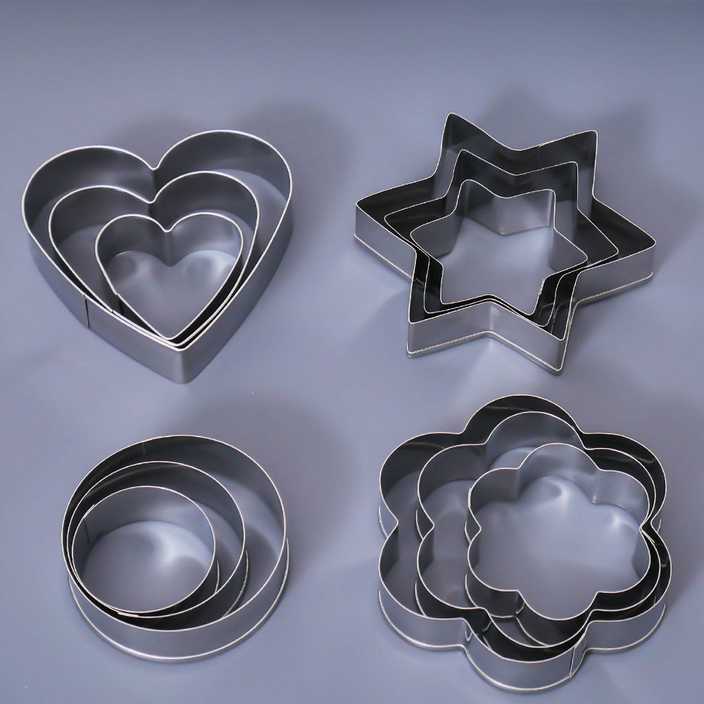 12-Pc Stainless Steel Cookie Cutter set
