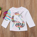 Girls Unicorn T-Shirt 9M-4Y