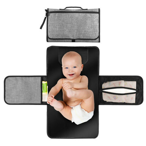Clutch Baby Diaper Changing Mat with  Side Pockets
