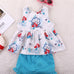 2-Pc Mermaid Baby  Sleeveless Tops & Shorts Set