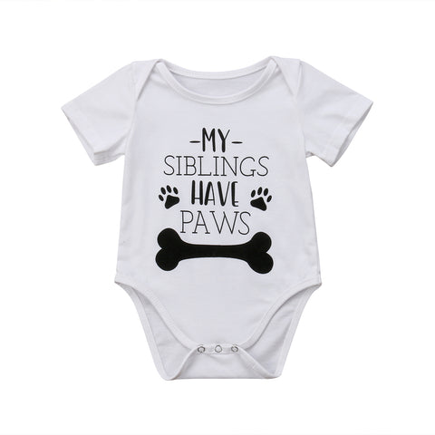 My Siblings Have Paws Bodysuit 0-18M