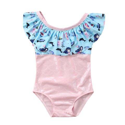 Girl Mermaid Swim Wear 1-5Y