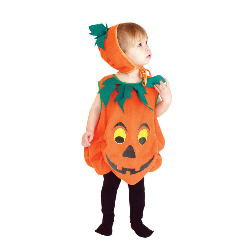 Children Pumpkin Halloween Costume 3-4Y