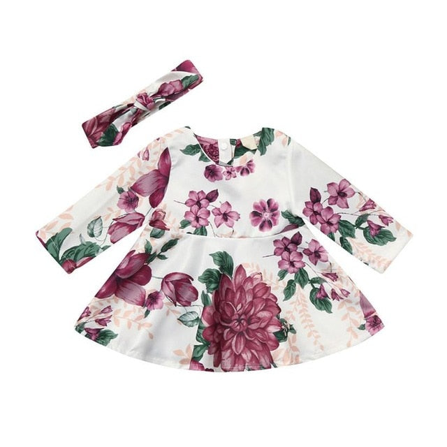 2-PC Baby Floral Print Dress