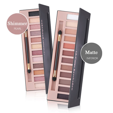 12 Colors Natural Shimmer Or Matte Eye Shadow Makeup Palette