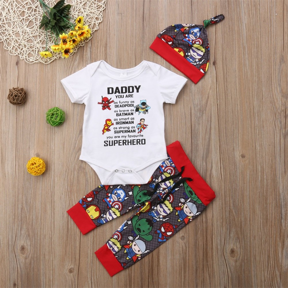 3-Pc Daddy You Are My Superhero Set