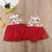 Christmas Little Sister and Big Sister Matching Tutu Romper & Dress