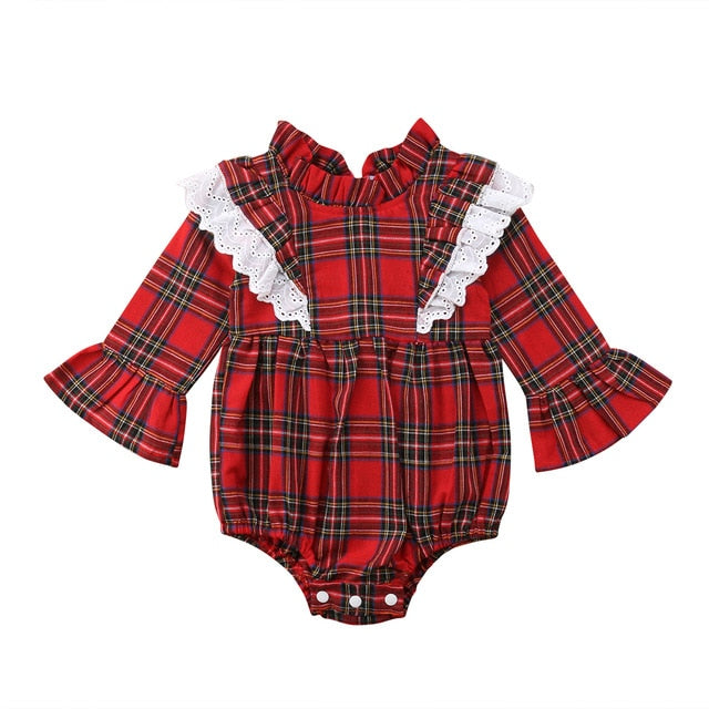 Baby & Sister Christmas Plaid Romper & Dress