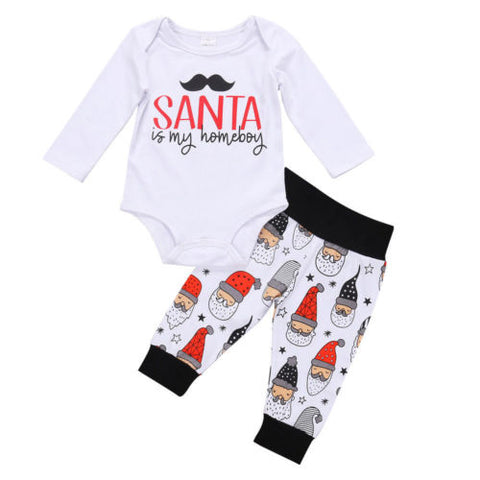 2-Pc Baby  Christmas Santa Is My Homeboy Set