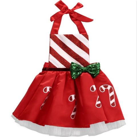 Baby Girls Candy Cane Christmas Tutu Dress 0-18M