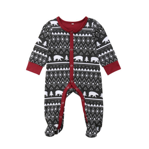 Christmas Prints  Jumpsuit 0-18M